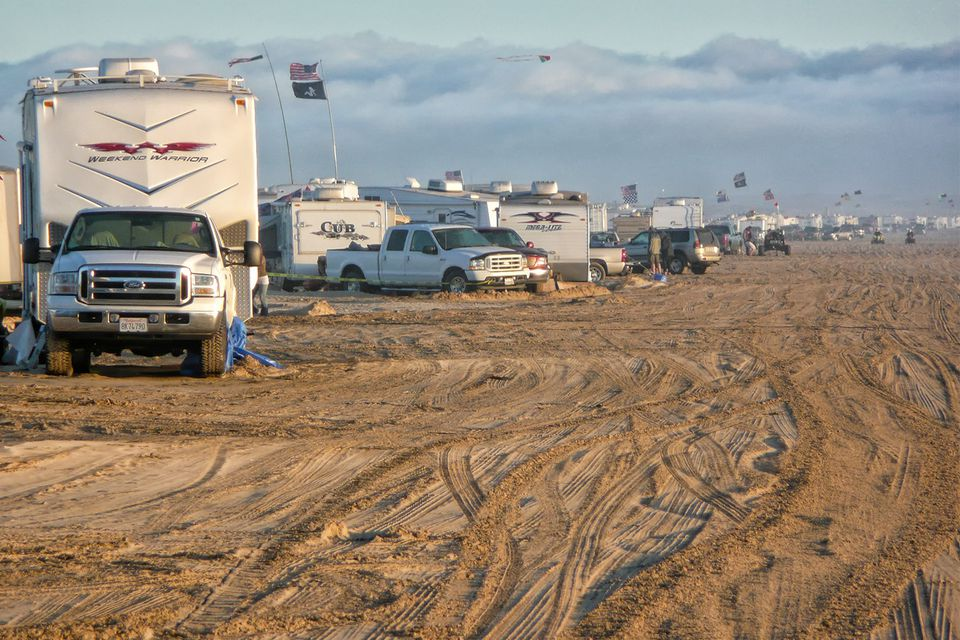 Camping at Oceano Dunes Near Pismo Beach
