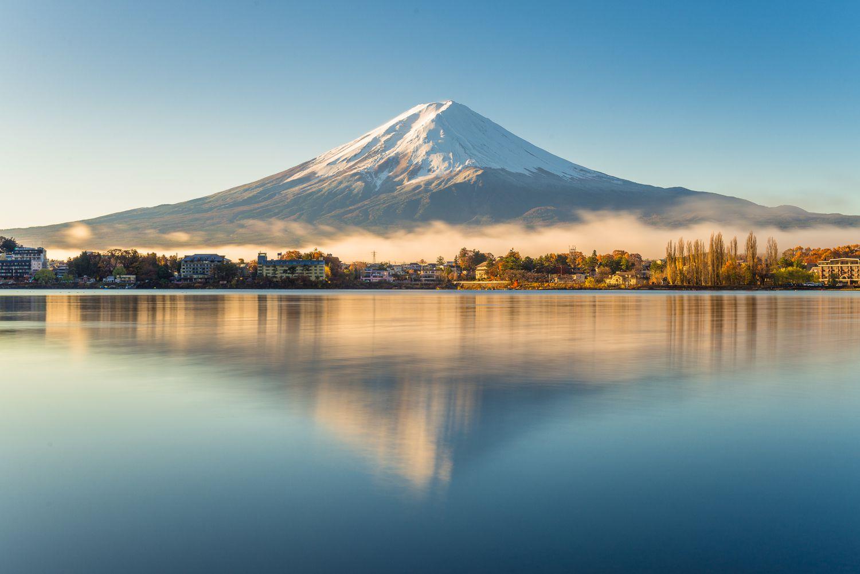 Mount Fuji lake view