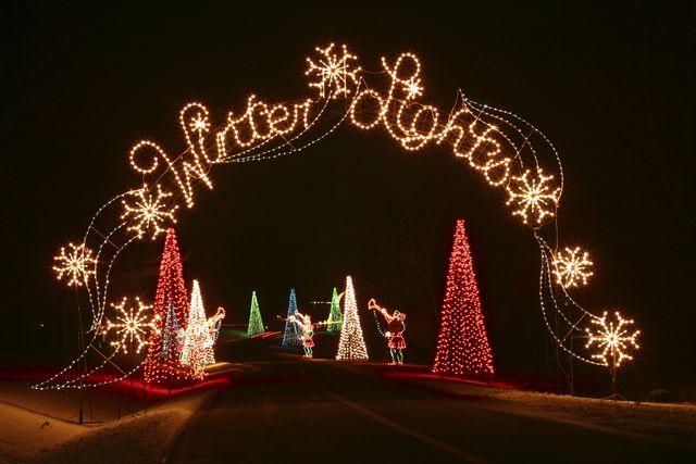 Photos of Christmas Lights at Seneca Creek State Park