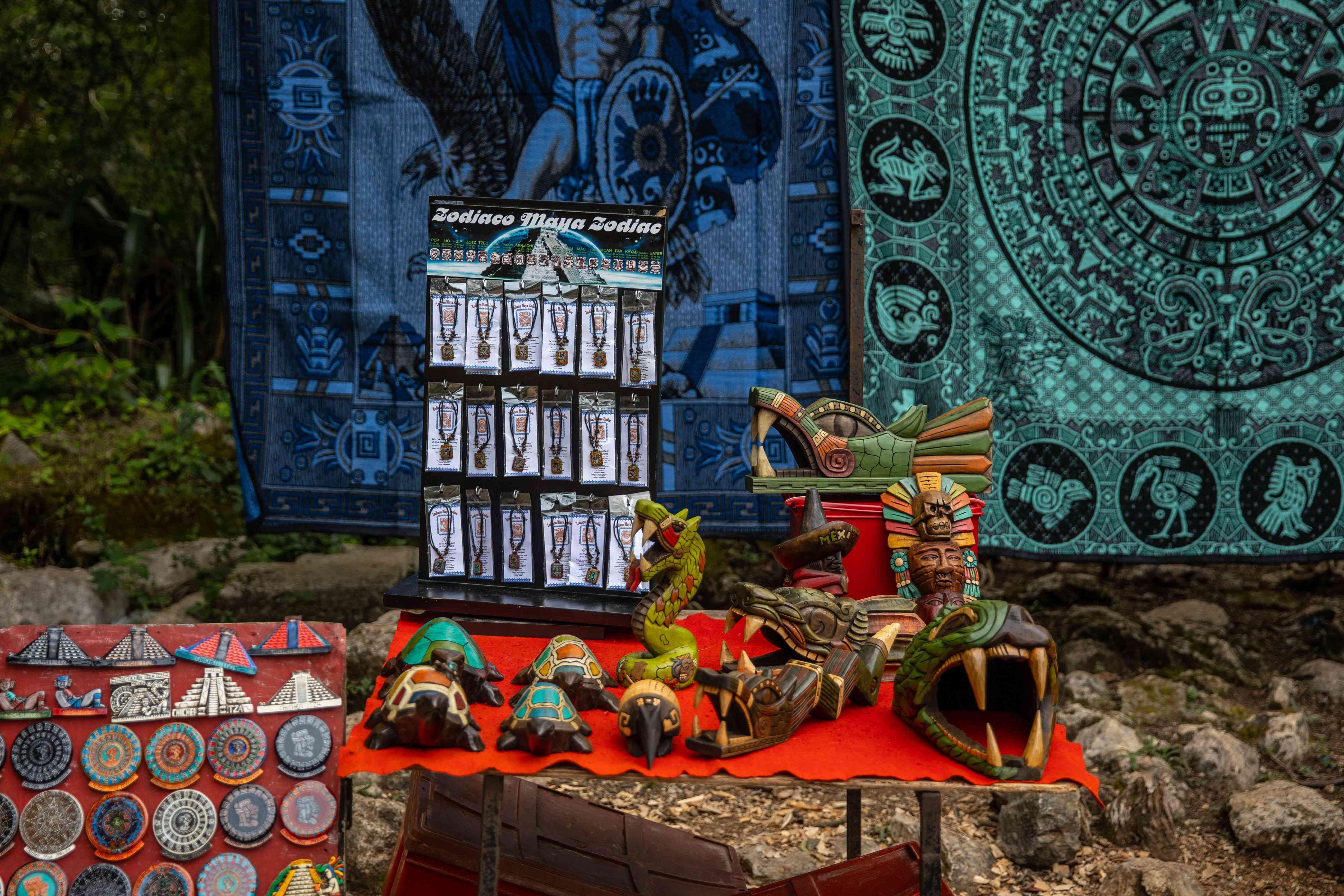 Handicrafts souvenirs in Mexico