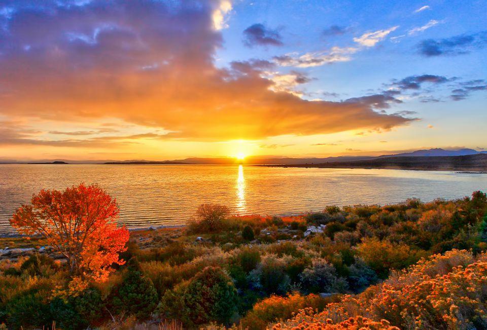 A Fall Sunrise at Mono Lake in California