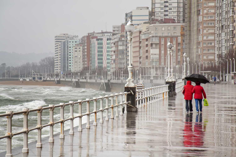 Rainy day in Asturias, northern Spain
