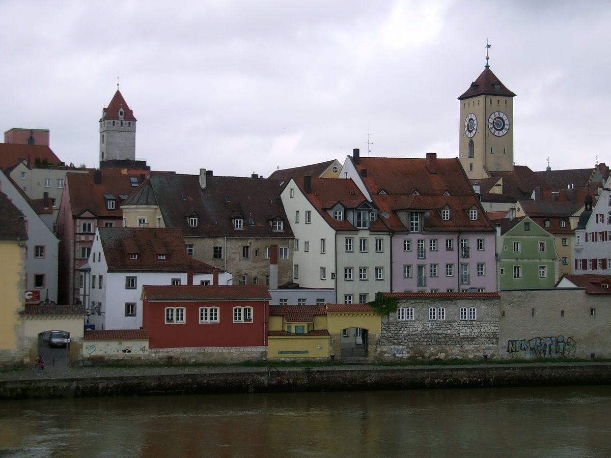 Regensburg on the Danube River in Germany