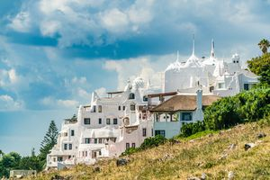 The famous Casapueblo, the Whitewashed cement and stucco buildings near the town of Punta Del Este, Uruguay