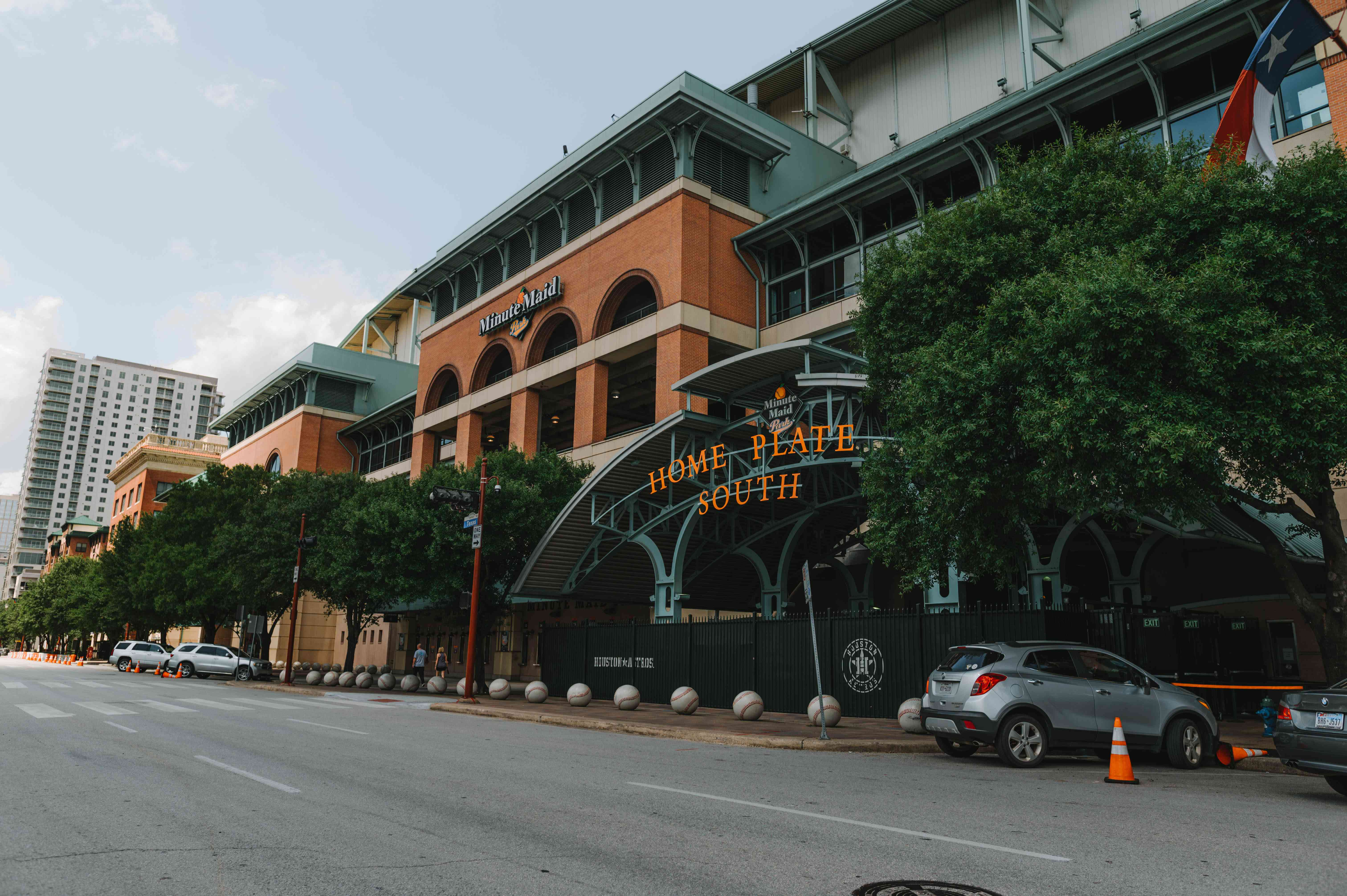 Exterior of the Minute Maid Stadium