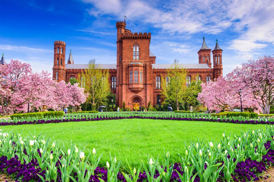 Smithsonian Castle and Haupt Garden