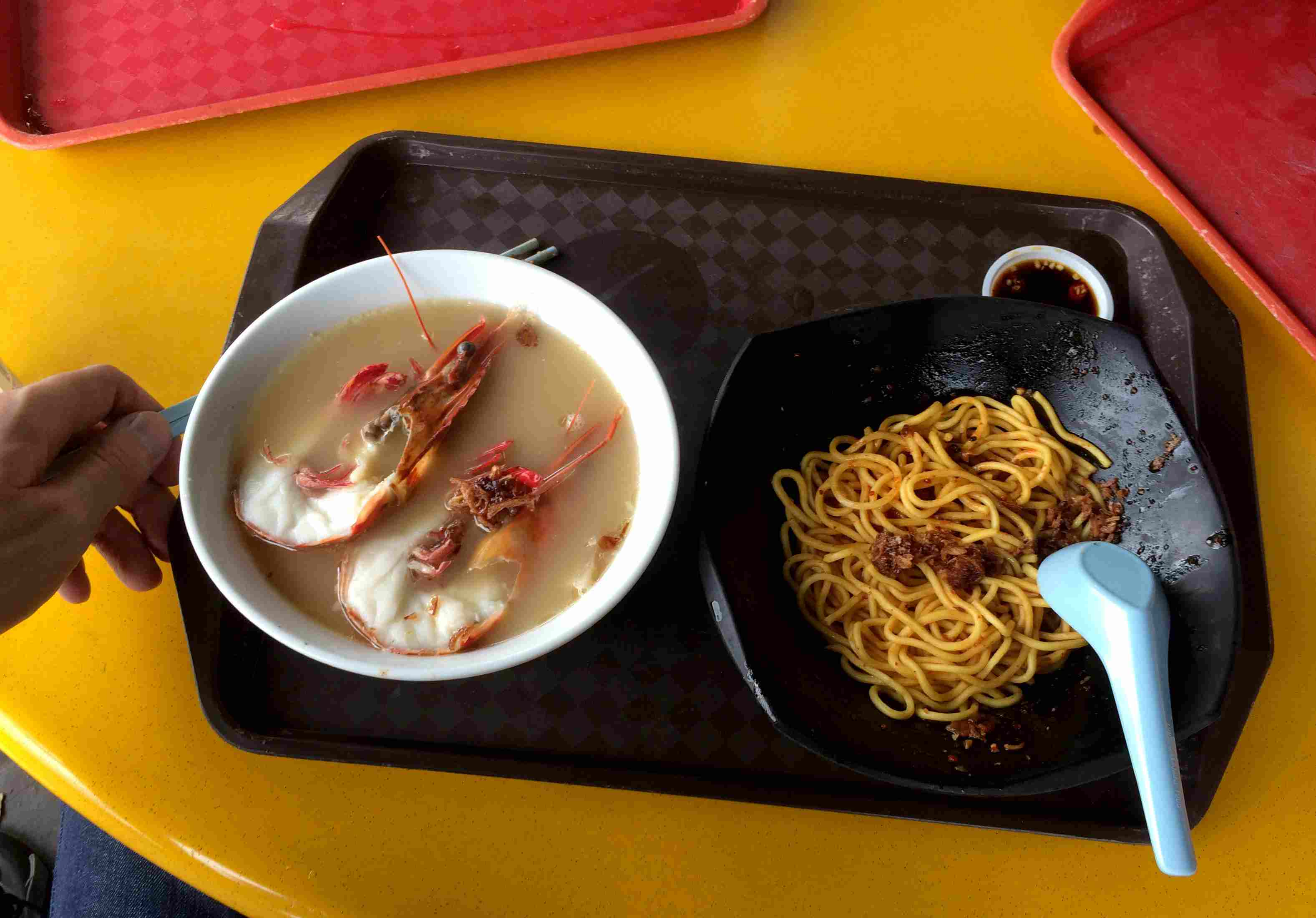 A meal at the Zion Riverside Food Centre