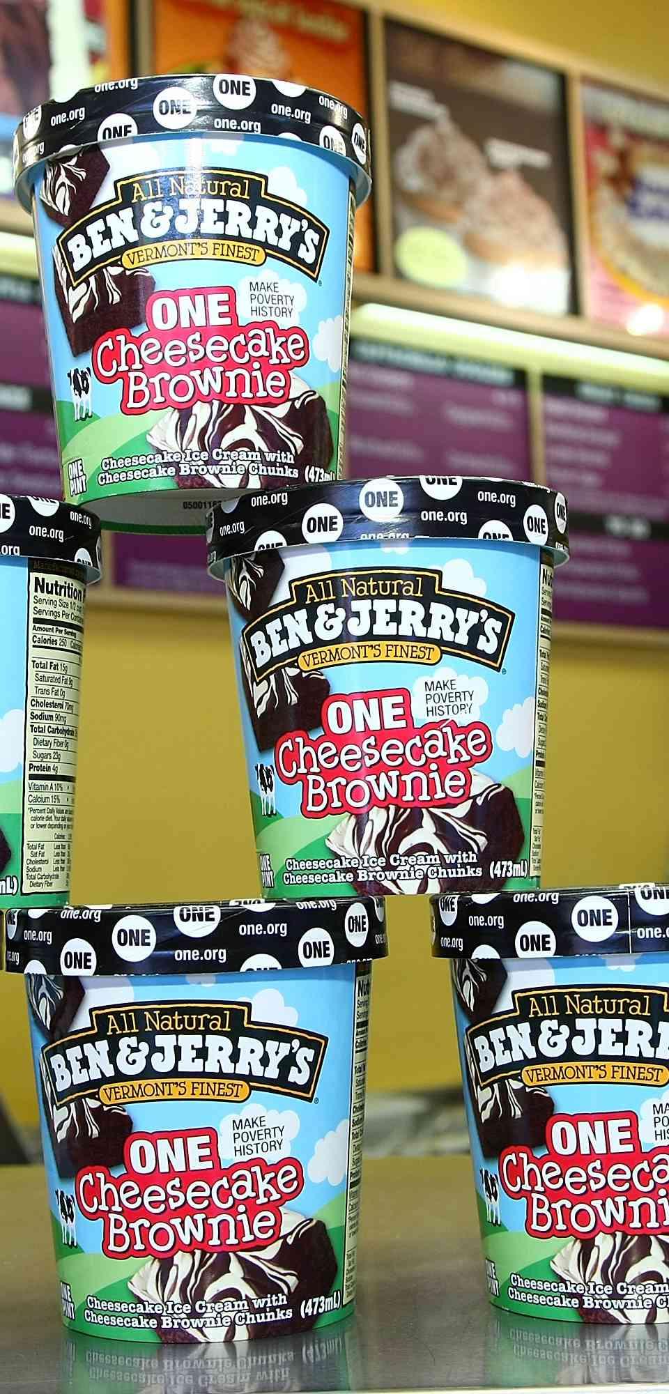 Pints of Ben & Jerry's ice cream