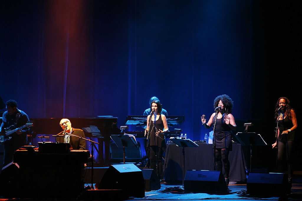 Donald Fagen and his band Steely Dan perform at Arlene Schnitzer Concert Hall on July 2, 2014 in Portland, Oregon.
