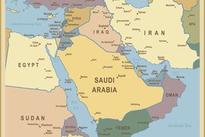 Middle East Cruise Destination Map