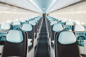 A shot of the inside of the La Compagine's new plane