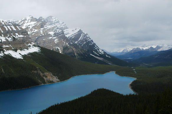 Peyto Lake from Bow Summit, Banff National Park, Alberta