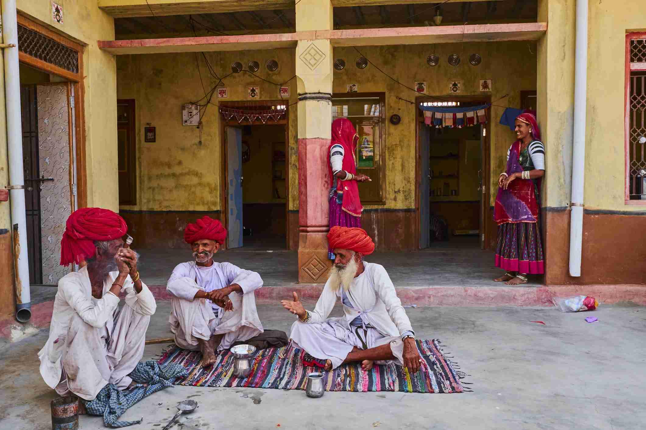 Rabari tribes in Rajasthan village.