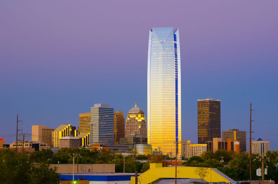 Oklahoma City at dusk