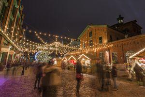 Toronto Christmas market in the Distillery district, Toronto