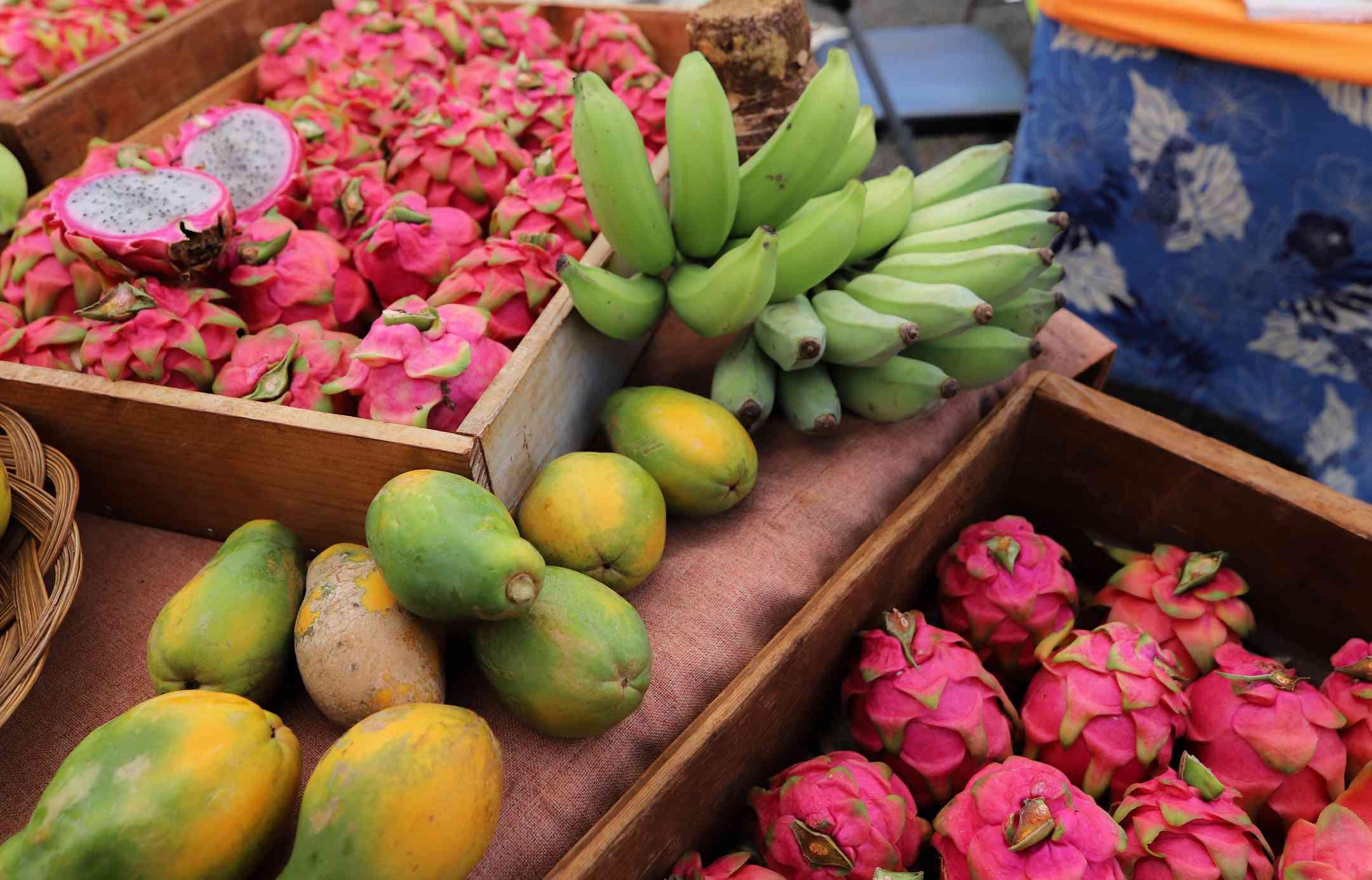 Farmers market on Kauai, Hawaii