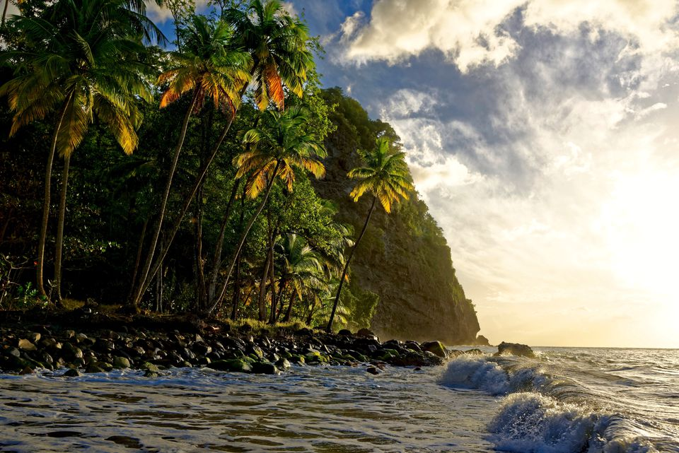 Scenic View Of Sea Against Sky in Martinique