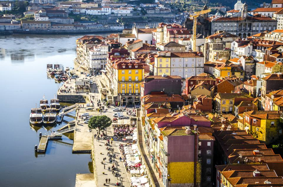 View of Porto from Dom Luís I Bridge
