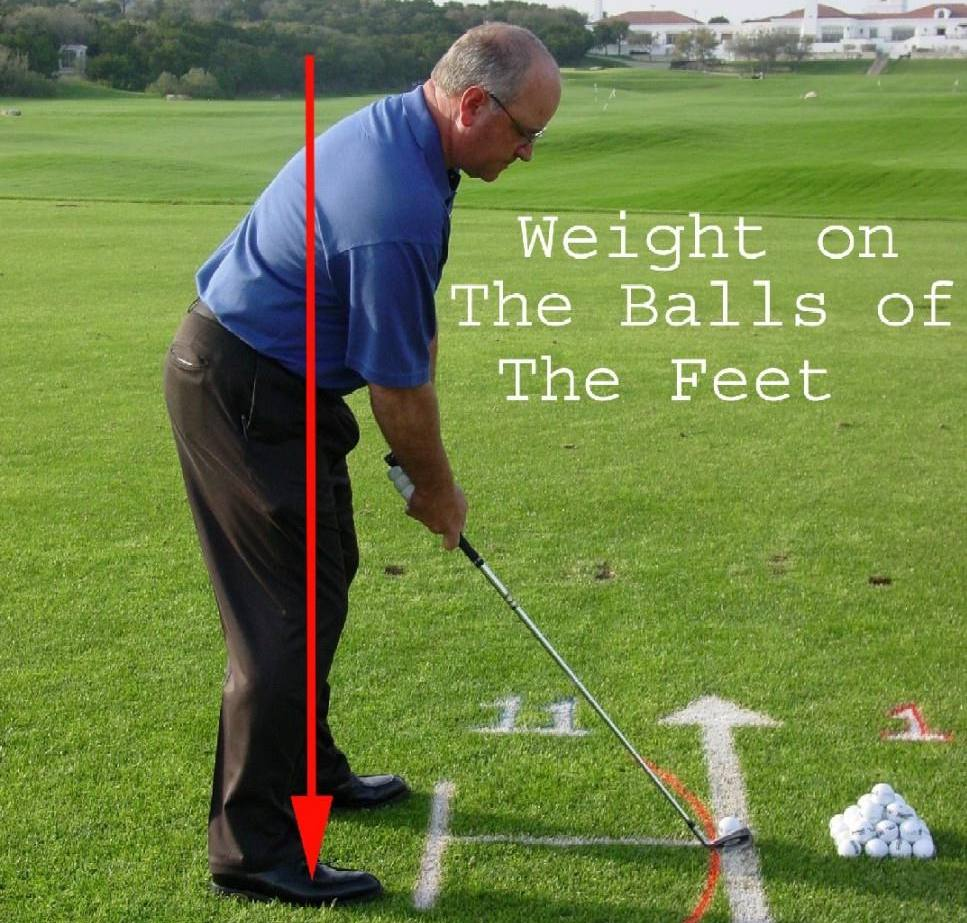 balance in the golf stance