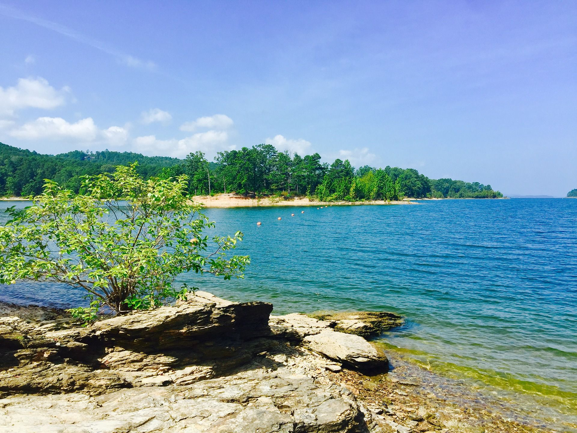 Beautiful Lake Ouachita State Park in Arkansas