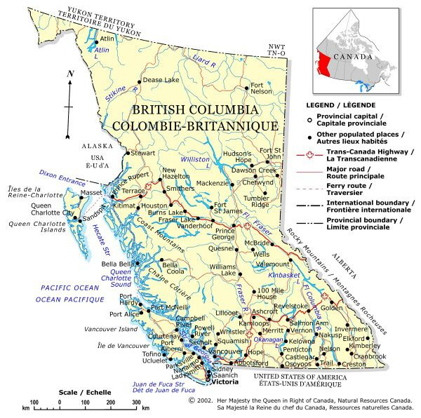 Plan Your Trip With These 20 Maps of Canada Driving Map Of Bc on