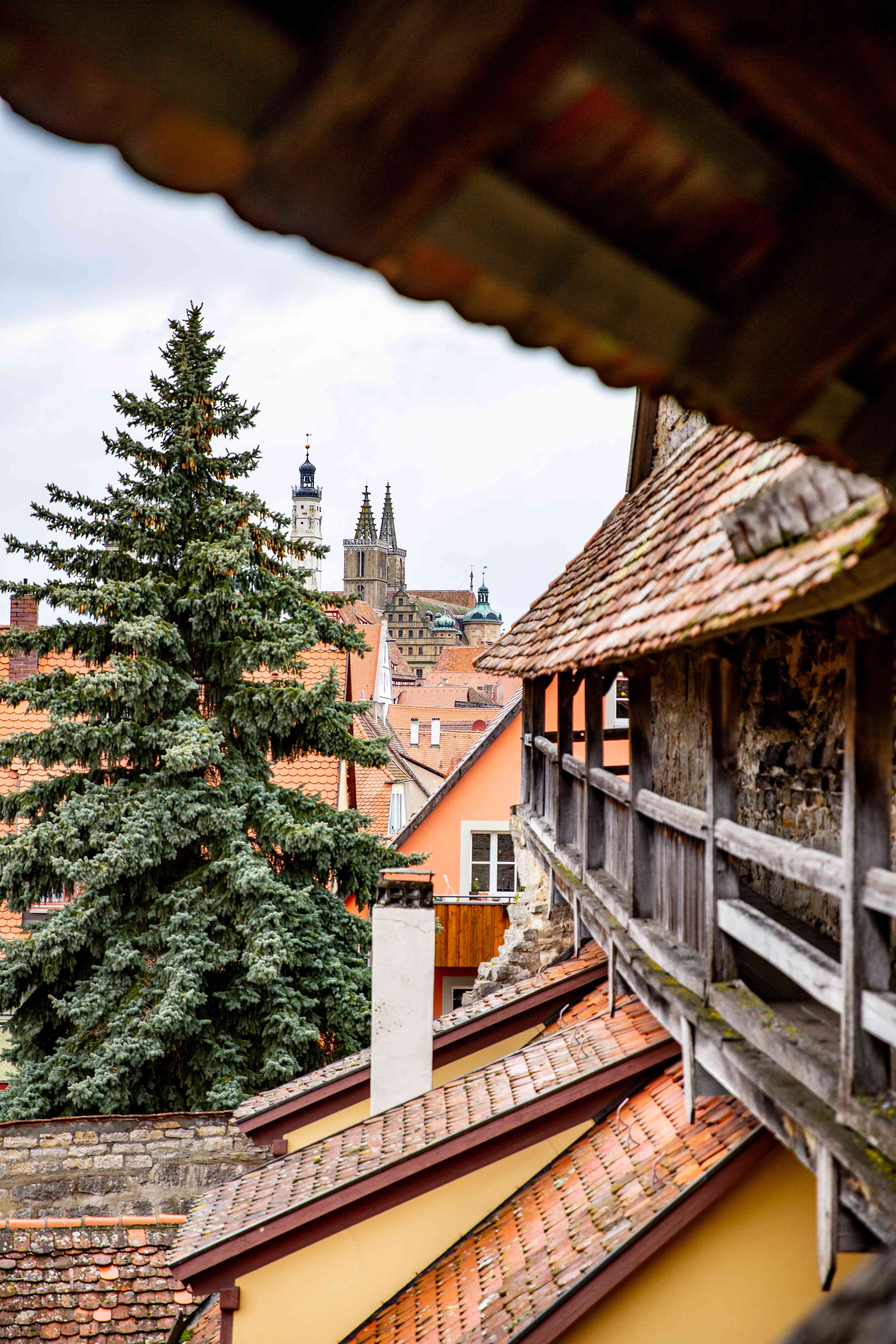 City wall in Rothenburg ob der Tauber, Germany