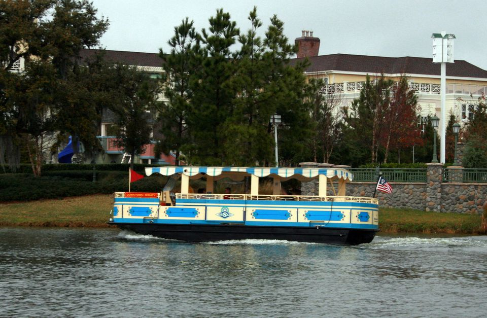 A water taxi at Disney Hollywood.