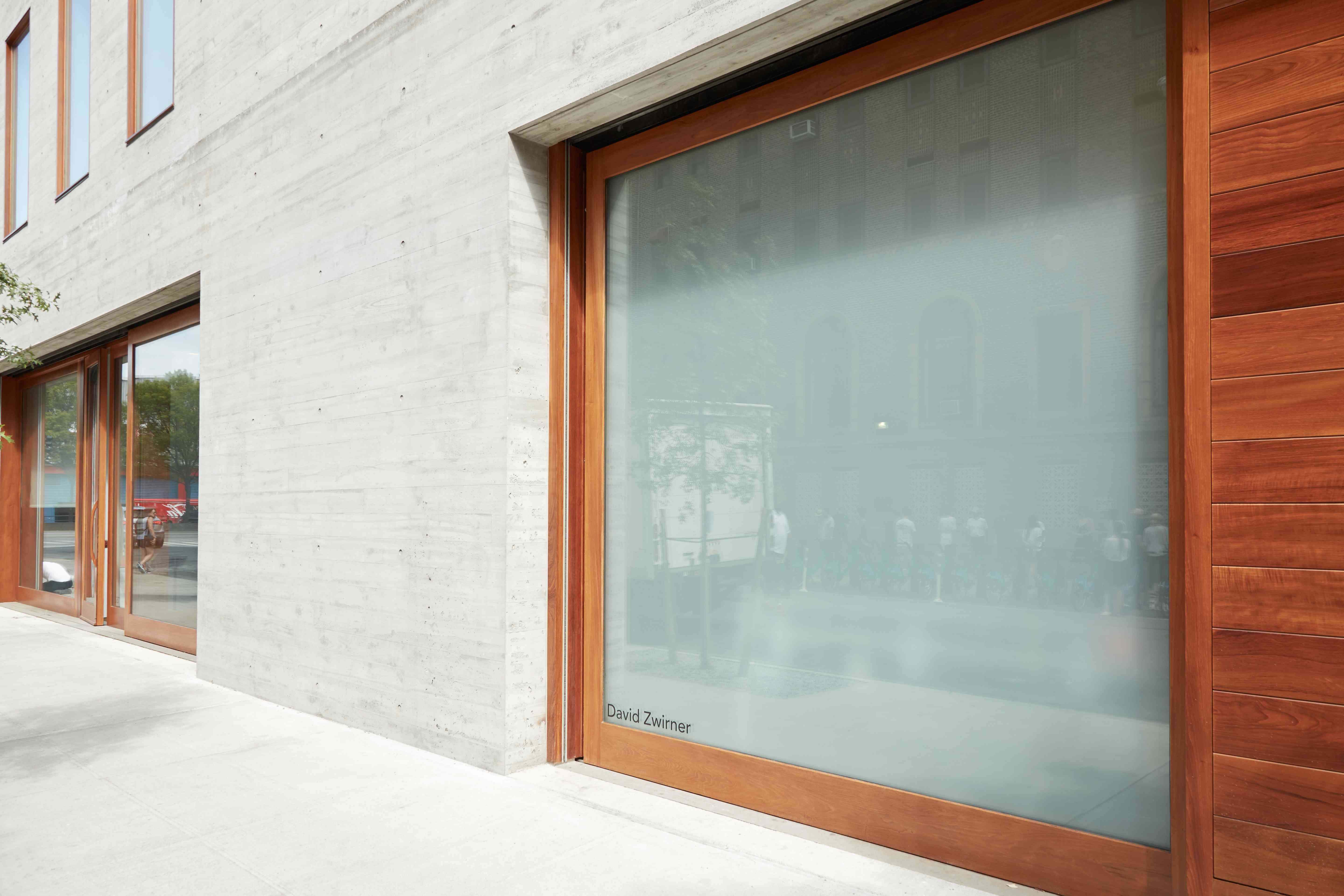 David Zwirner Gallery exterior view in Chelsea in a sunny day in New York