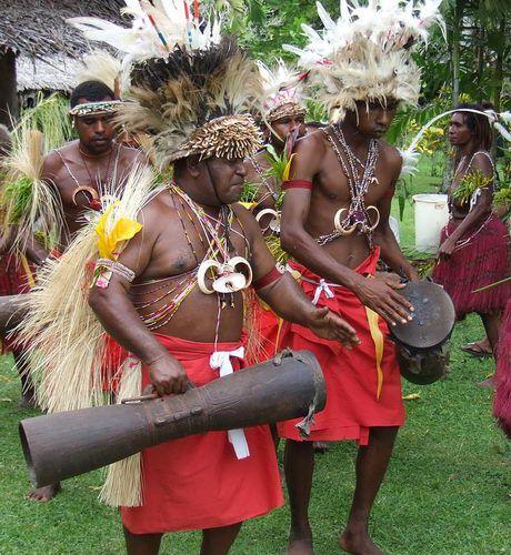 Singsing Dancers on Krangket Island, Papua New Guinea