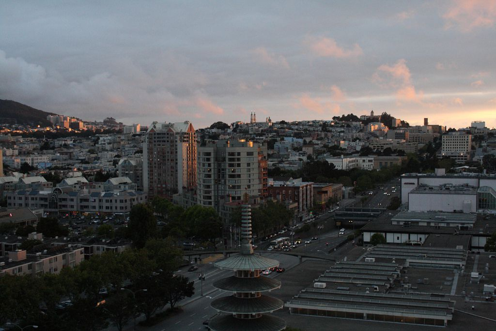 A view over Japantown in San Francisco