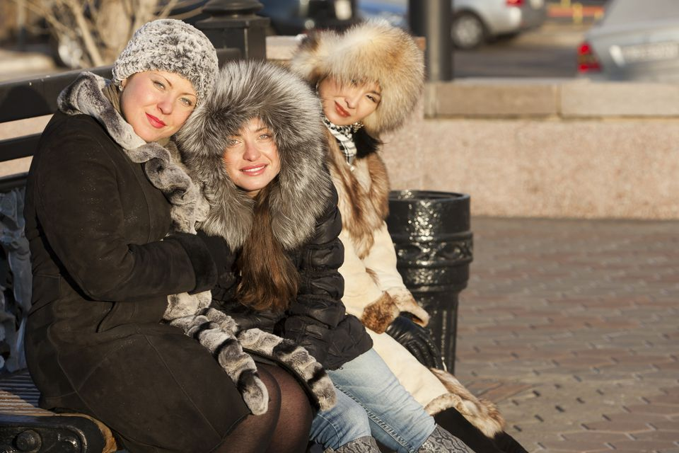 Russian girls' winter fashion