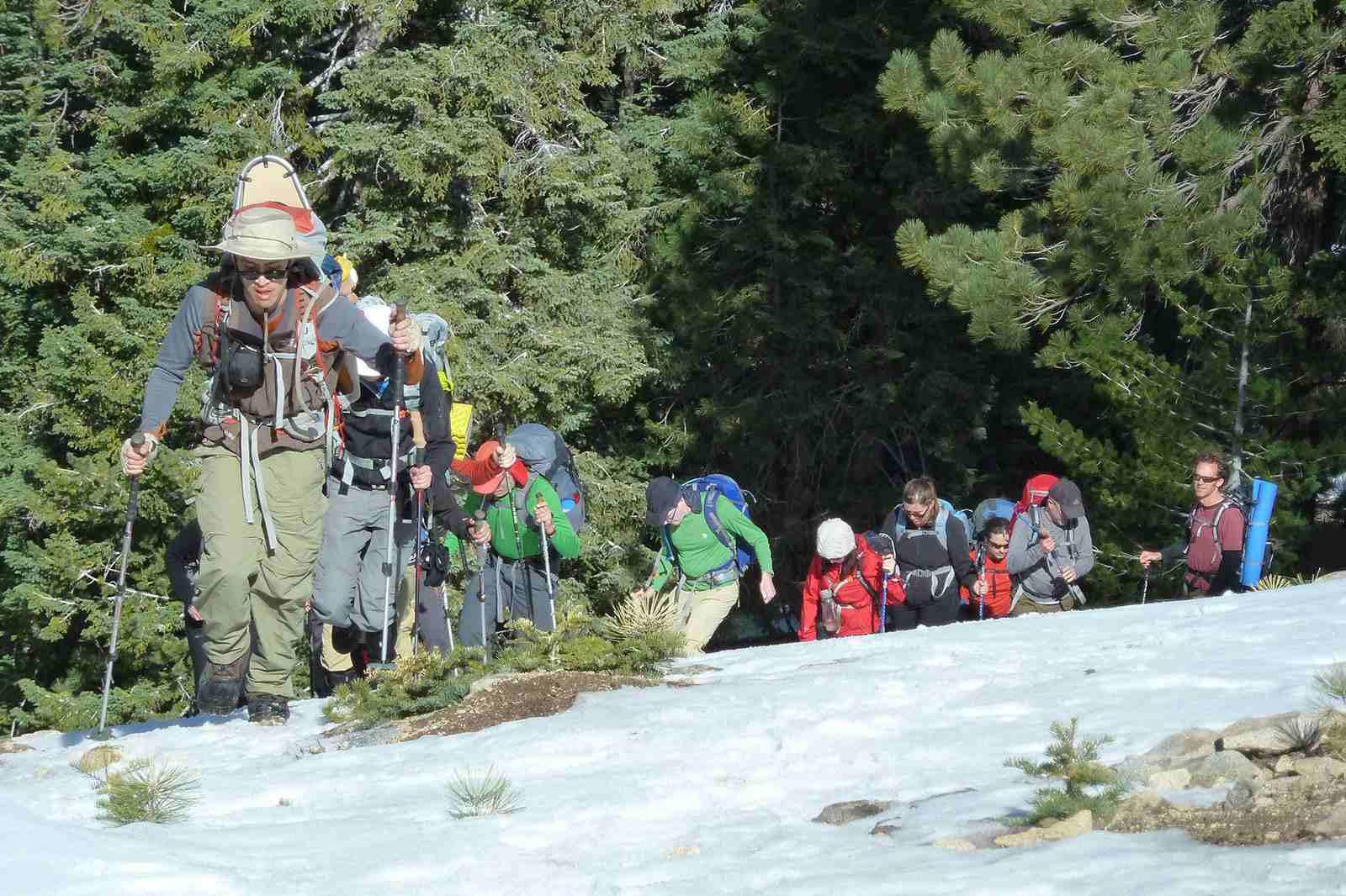 Snowshoeing Mt. Watermnan