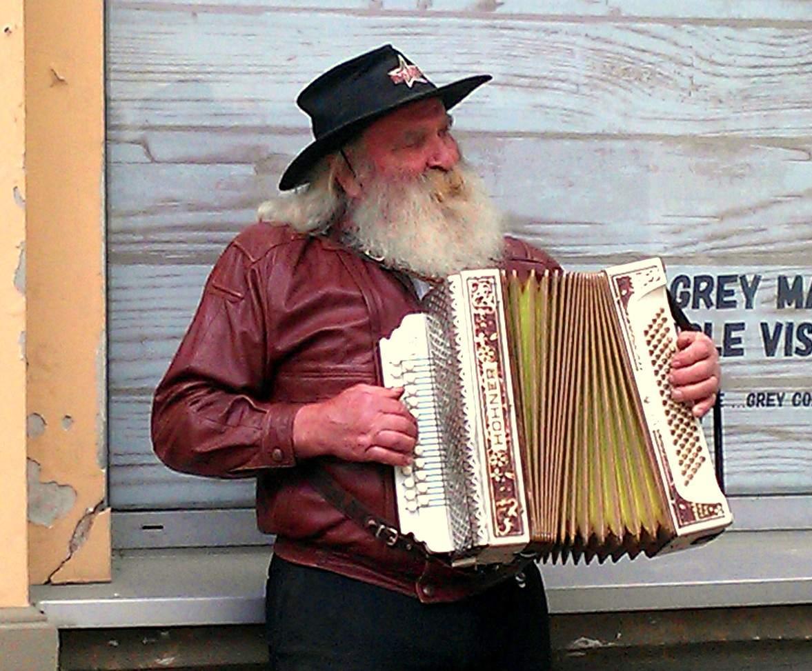 Accordion Player Eastern Europe