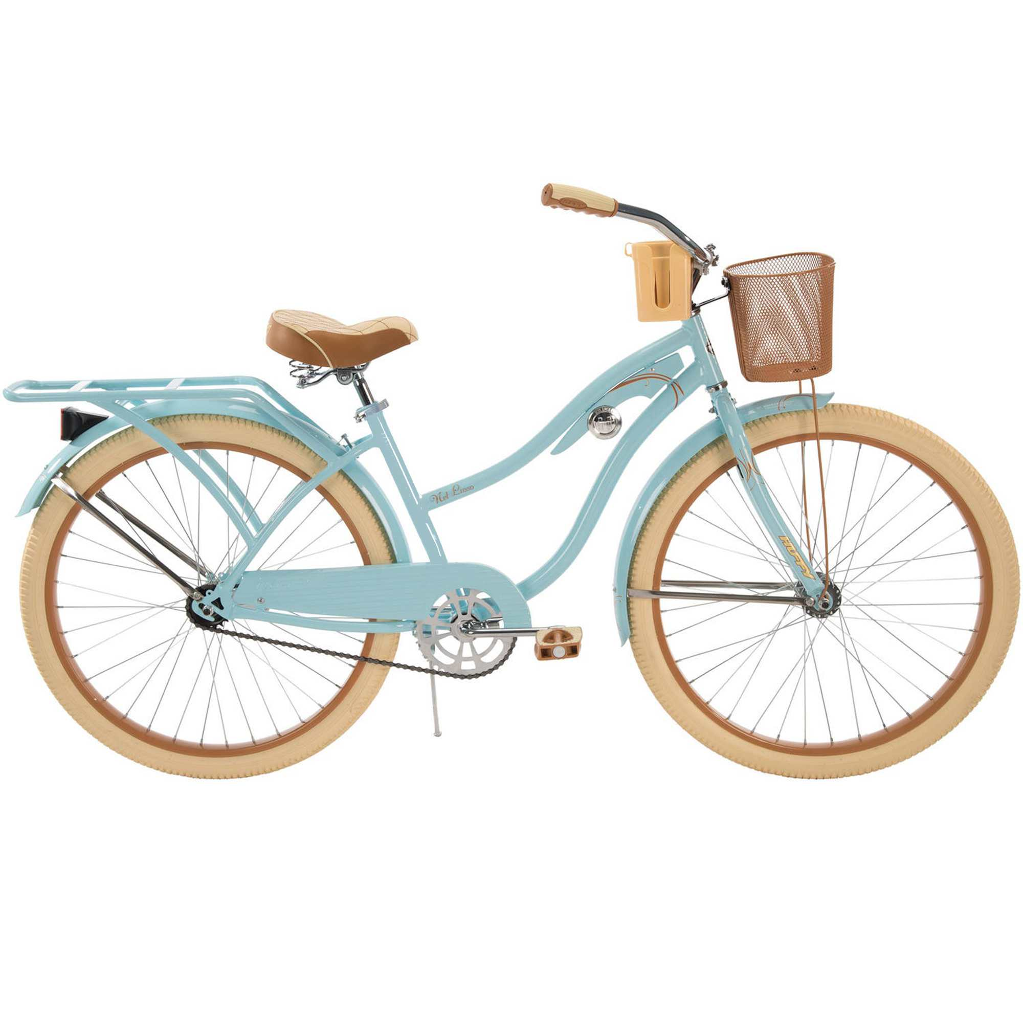 "8f1f2d1a6f6 Huffy 26"" Womens' Nel Lusso Cruiser Bike with Perfect Fit Frame, Blue"
