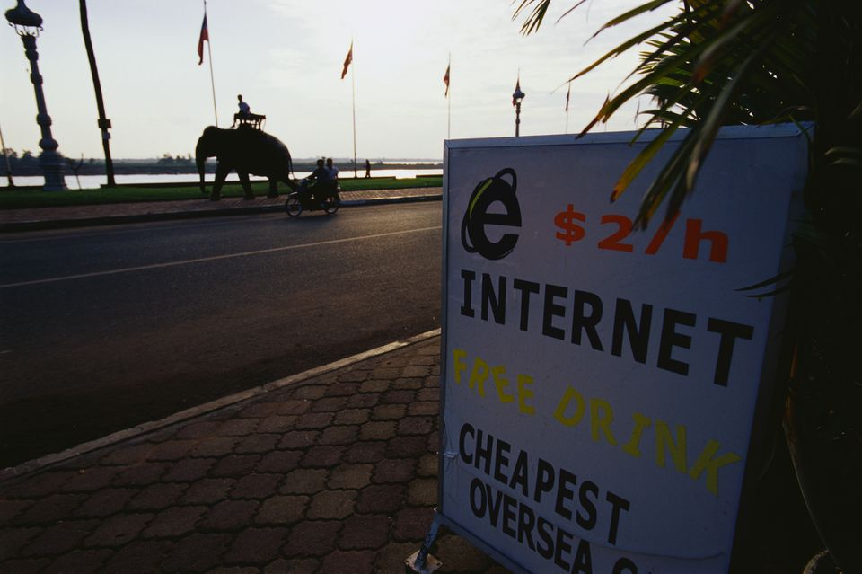 Internet sign in Cambodia