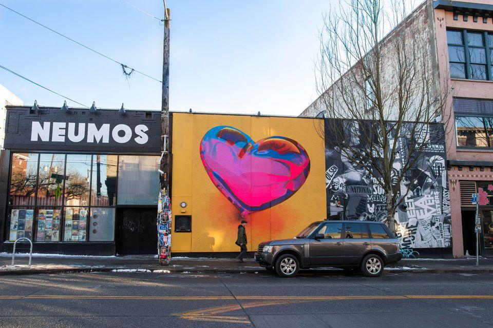 Street art murals in Seattle