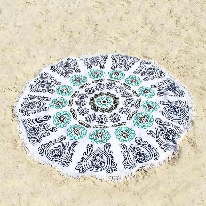Ricdecor Mandala Large Round Beach Blanket