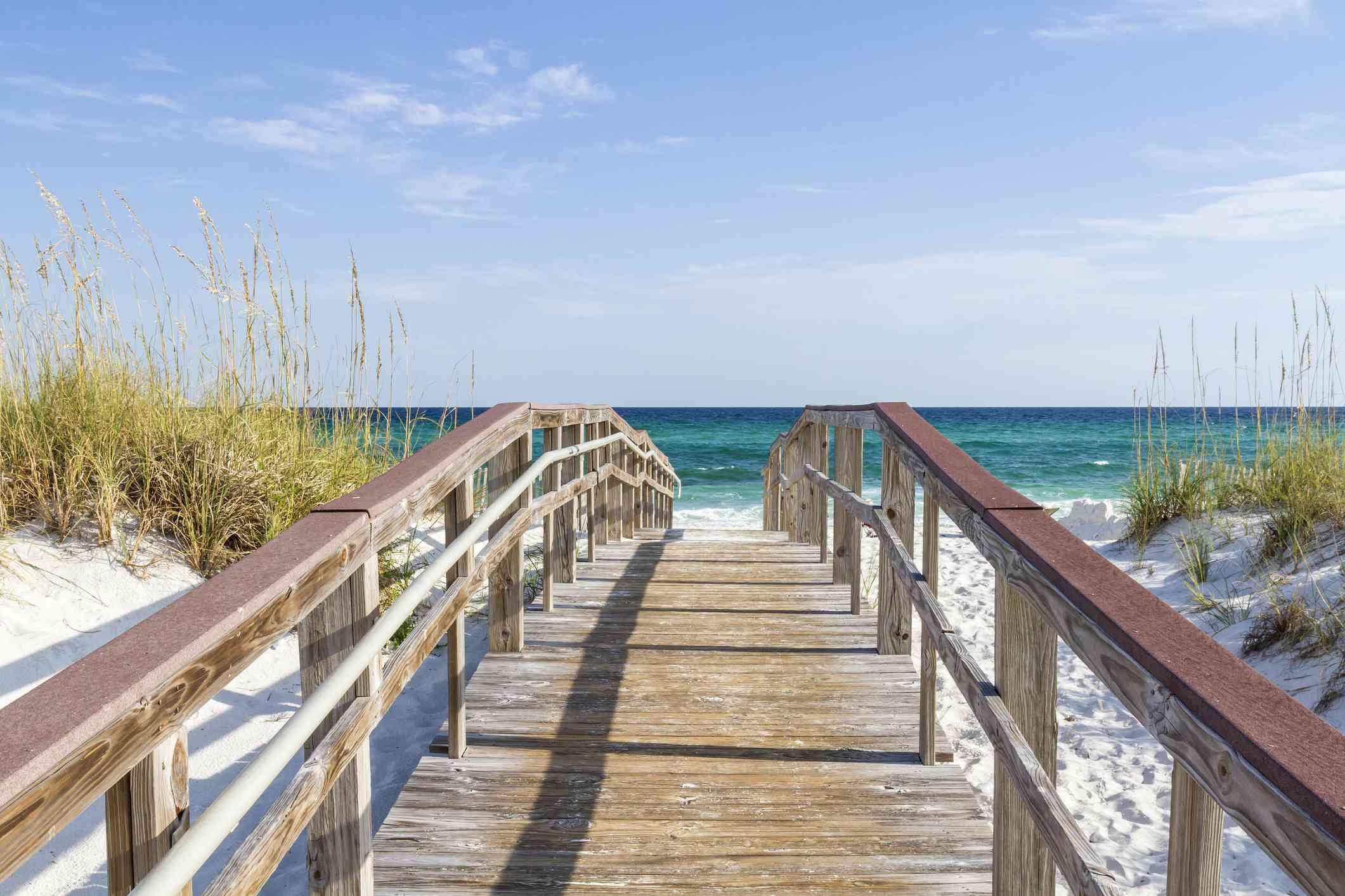 Boardwalk to the Turqouise Gulf, Pensacola Beach, FL