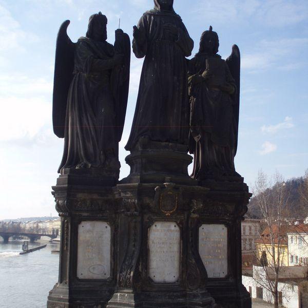 Francisco de Asís en el Puente de Praga Praga