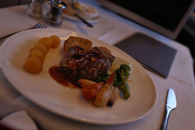 Dinner on British Airways