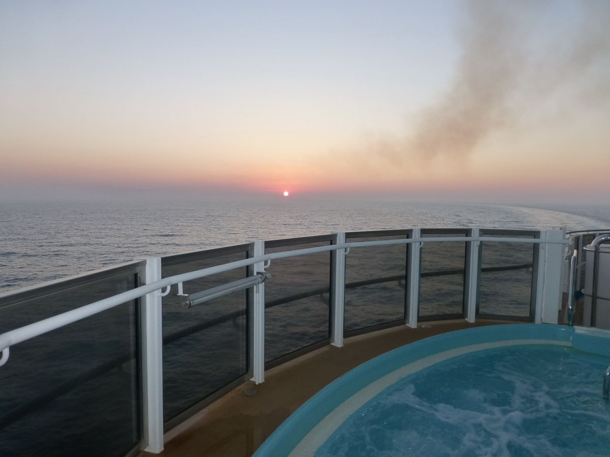 Hot tub on the Carnival Breeze