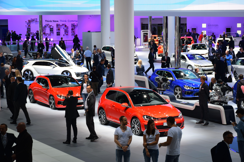Volkswagen exposition on the motor show