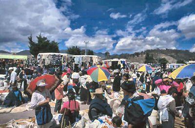 Otavalo Market Crowd