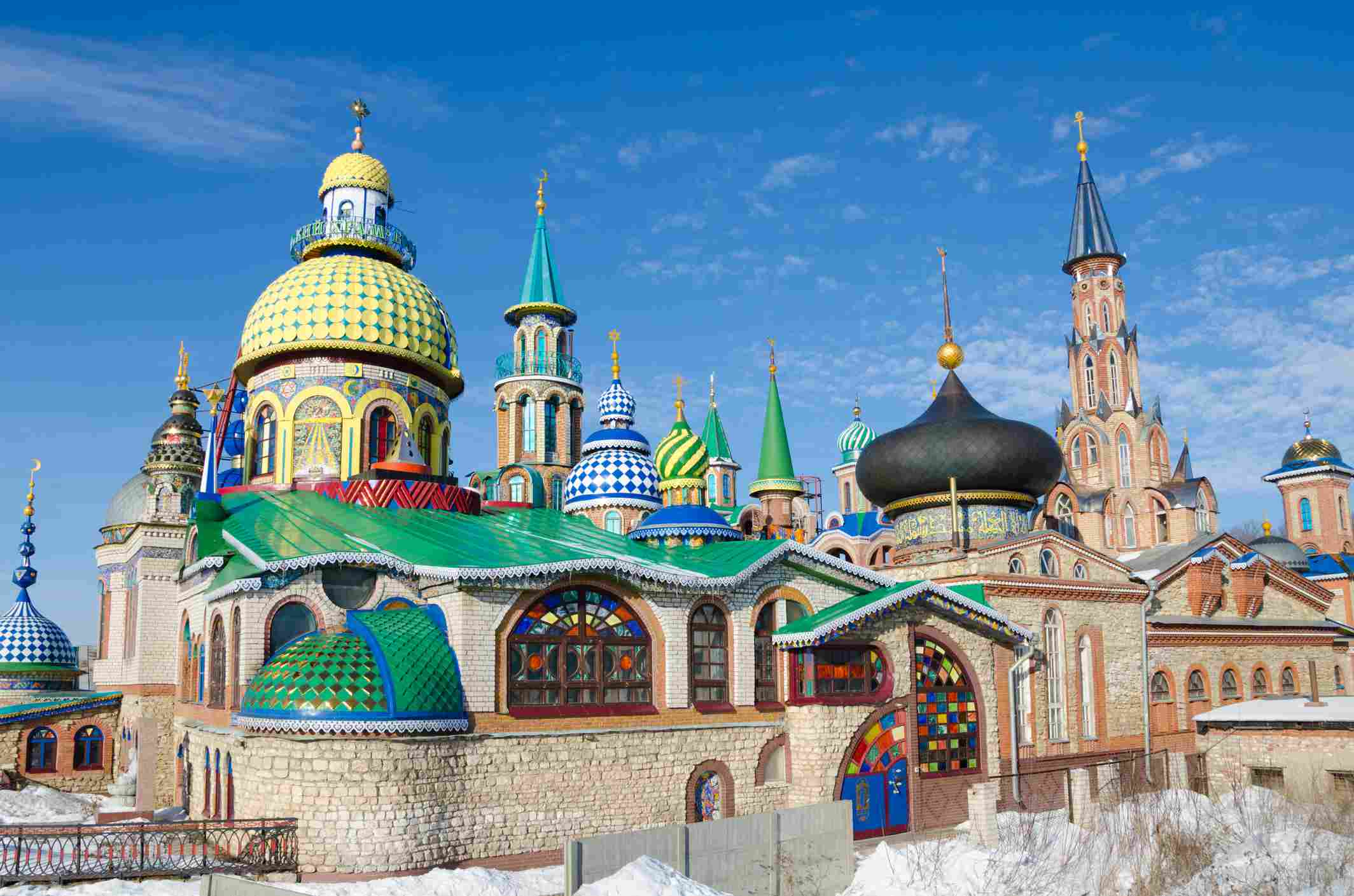 The Temple of All Religions in Kazan, Russia