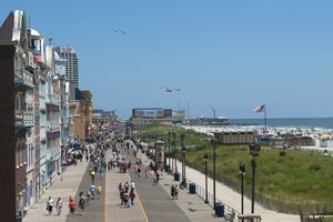 Atlantic City boardwalk in summer
