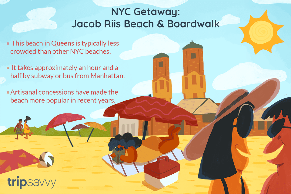 Visit Jacob Riis Beach and Boardwalk in NYC