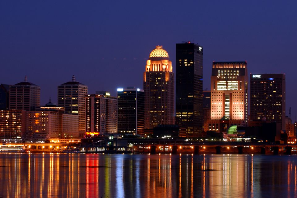 Photo of the Louisville Skyline at Night - Louisville KY
