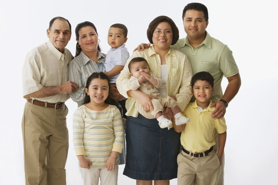 Portrait of multi-generational, multi-ethnic family