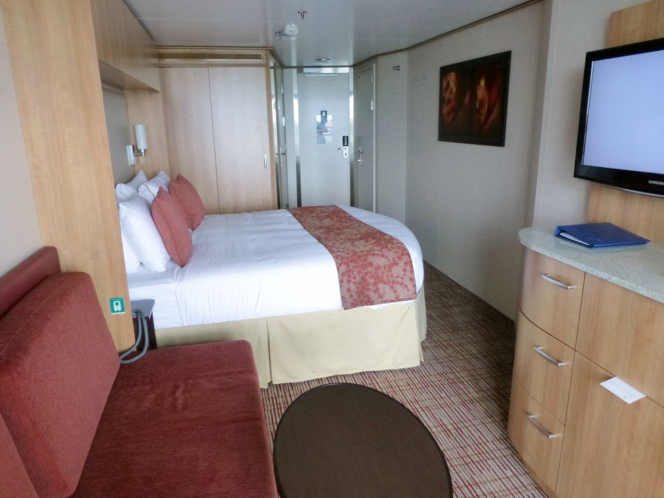 The deluxe ocean view stateroom with veranda on the Celebrity Reflection cruise ship