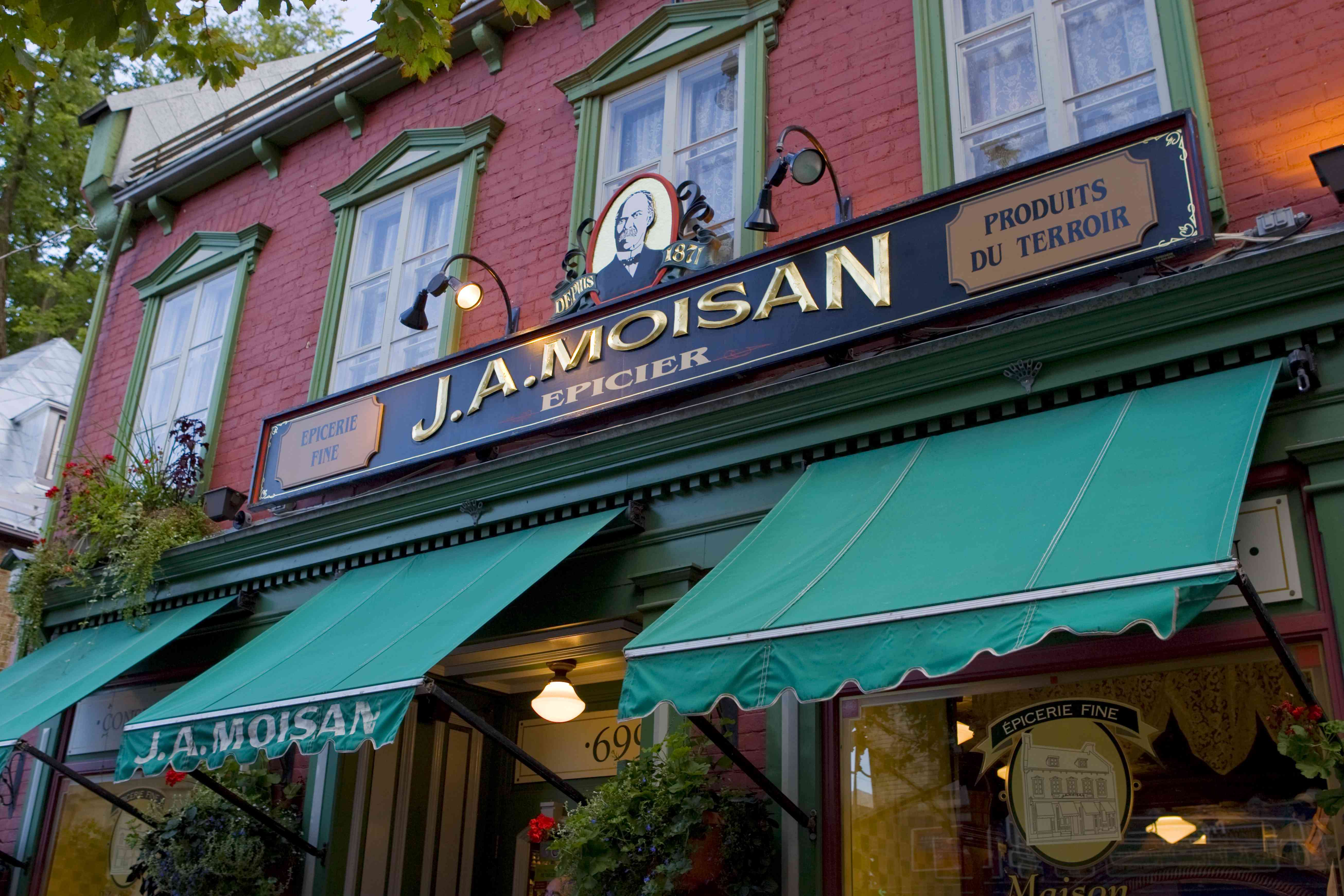 The famous J.A. Moisan grocery store in Quebec City Canada